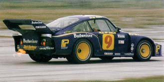 The turbo-charged Porsches were well known for this awesome, fiery display on overrun when unburned fuel ignited on the superheated exhaust system!